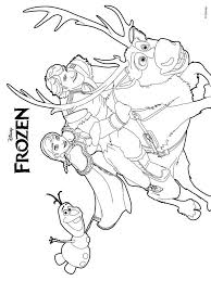 frozen coloring pages download print frozen coloring pages