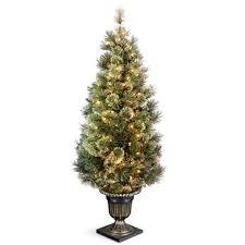 walmart artificial trees pre lit white tree