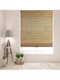 Bamboo Curtains For Windows Shop Amazon Com Window Roman Shades