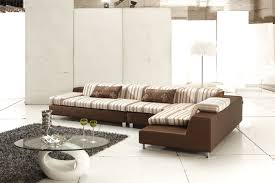 modern sectional white sofa with grey and black clean nuance also