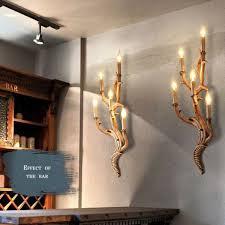 top grade vintage wall light tree branch shape wall sconces