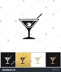 martini silhouette vector cocktail glass sign martini vodka olive stock vector 505667863