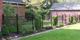 ornamental aluminum fence with finials by elyria fence