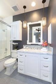 Small Coastal Bathroom Ideas Small Bathroom With White Cabinets Under Two White Sinks White