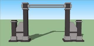 desain warna gapura sketsa model desain gapura minimalis gate design pinterest