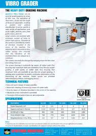 vibro grader spectrum industries pdf catalogue technical