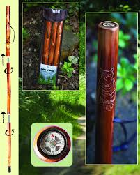 amazon com owl take a hike compass folding walking stick with