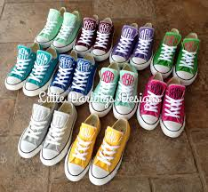 monogramed items new colors sassy monogrammed converse all sneakers