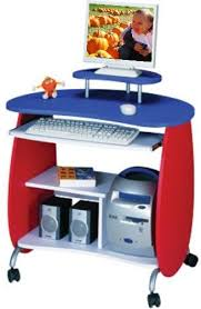 Blue Computer Desk Director Modern 3 Drawer Desk In White And Black Laquer With