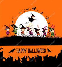 happy halloween text art happy halloween party with kids u2014 stock vector ngocdai86 55933999