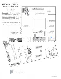 Floor Plan Of A Library by L Fannin Library Phoenix College
