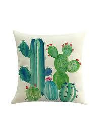 Cusion Cover Cactus Print Cushion Cover Shein Sheinside