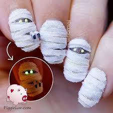 creepy halloween nail art ideas by piggieluv bored panda