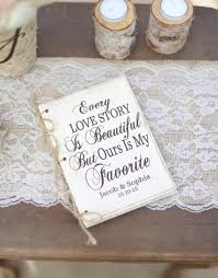 bridal shower guestbook personalized rustic wedding guest book bridal shower