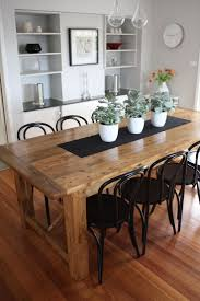 furniture good recycled wood dining table dining chairs using good recycled wood dining table dining chairs using cylindrical tapered black plastic legs ravishing rectangular tempered glass kitchen dining table steel