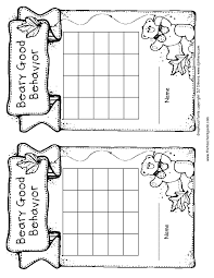 10 best images of black and white sticker chart templates