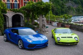 lamborghini asterion side view lamborghini asterion shows small boot poses next to miura at