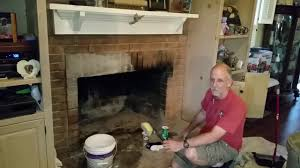 best way to clean creosotes off brick fireplace hack youtube