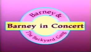 barney and the backyard gang barney in concert 1991 youtube