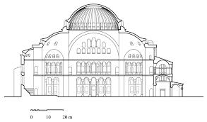 hagia sophia cross section archnet