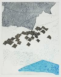 bureau de change la d馭ense shifting on water someren etching monotype silkscreen