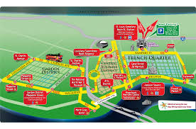 Map New Orleans French Quarter by Hop On Hop Off Bus Tour New Orleans City Sightseeing