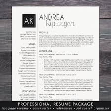 resume cv template free cover letter instant download mac