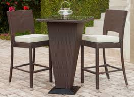 High Top Patio Furniture by Patio Bar Table And Chairs Inch Round Folding Bar Height Patio Table
