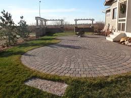 Circular Paver Patio Patios Des Moines Iowa Landscaping Perennial Gardens