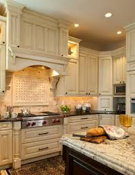 Kitchen Island With Corbels Traditional Kitchen Wolf Range Top Corner Appliance Garage Hood