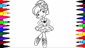learn colors coloring strawberry shortcake coloring pages videos