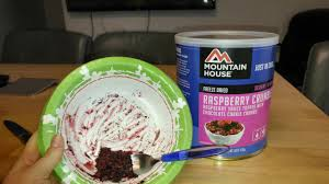 Mountain House Food Foodie Fridays Prepper Food Review U2013 Raspberry Crumble From