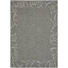 Grey And White Outdoor Rug Winston Porter Short Anthracite Light Grey Indoor Outdoor Rug