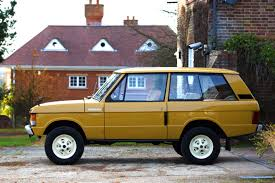 gold range rover the original range rover is the root of the global cult of the suv