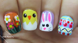 Easter Nail Designs Easter Nail Art Designs Spring Flowers Baby Bunny
