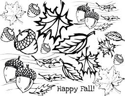 coloring pages leaves childrens fall pictures palm preschool