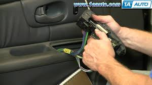 how to install replace power window switch buick regal century