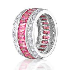 gold or silver wedding rings pink diamond silver wedding rings the wedding specialiststhe