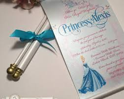 scroll invitations royal disney princess scroll invitation birthday wedding