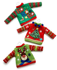set of 3 sweater ornaments created for macy s