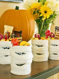 halloween party favor mummy candy cans hgtv