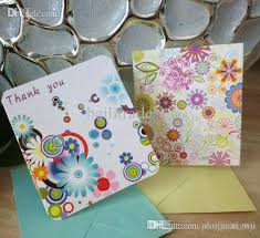 mini thank you greeting cards with envelope for business