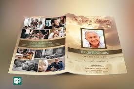 funeral program printing forever funeral program publisher template on behance