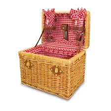 wine picnic baskets time chardonnay 13 willow basket w wine service for 2