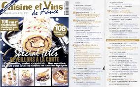 abonnement cuisine et vins de ma revue de presse culinaire française pour nov décembre 2013