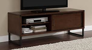 Media Storage Cabinet Amazon Com Breckenridge Walnut 50 Inch Flat Screen Tv Stand Media