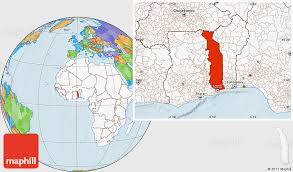 togo location on world map political location map of togo highlighted continent