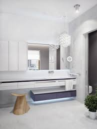 led strip light under cabinet furniture modern luxury bathroom vanity with wall cabinet and