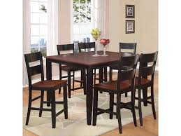 counter height dining room table holland house 8202 7 piece counter height dining set with square