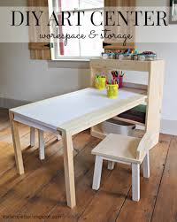 ana white kids art center stools diy projects